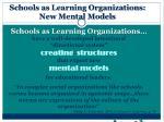 schools as learning organizations new mental models