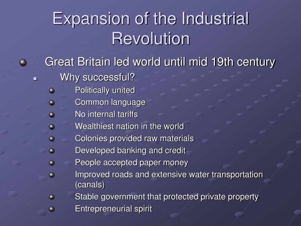 Expansion of the Industrial Revolution