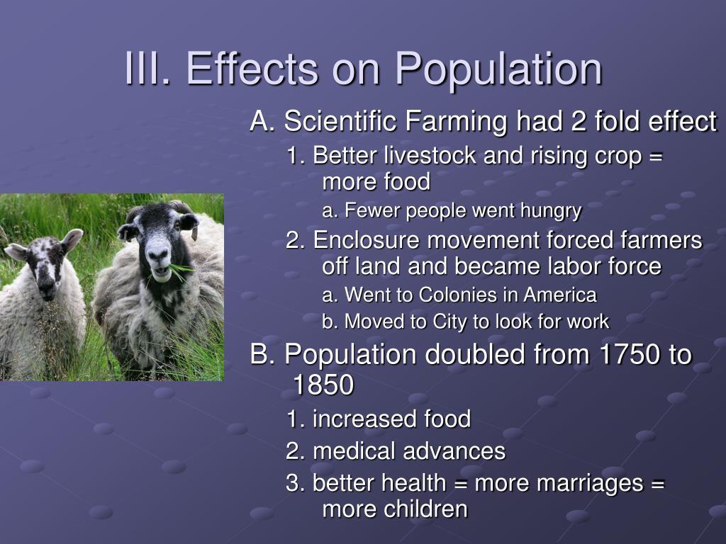 III. Effects on Population