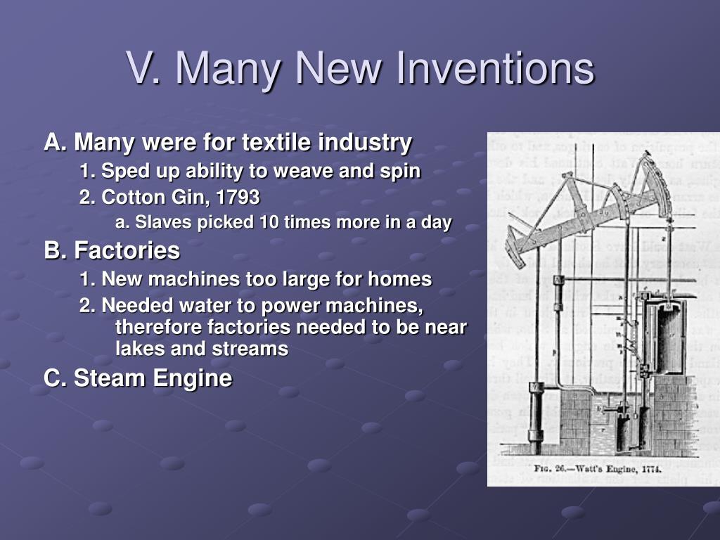 V. Many New Inventions