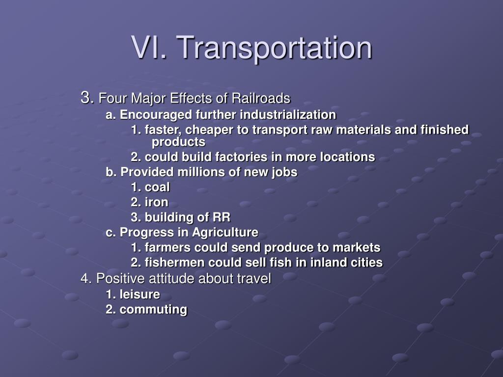 VI. Transportation
