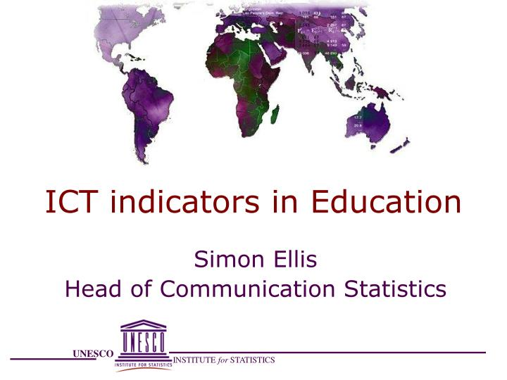 Ict indicators in education