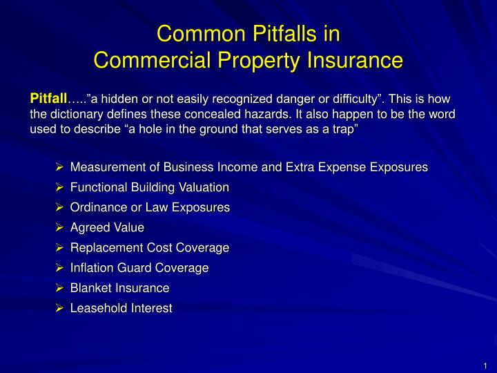 Common pitfalls in commercial property insurance2