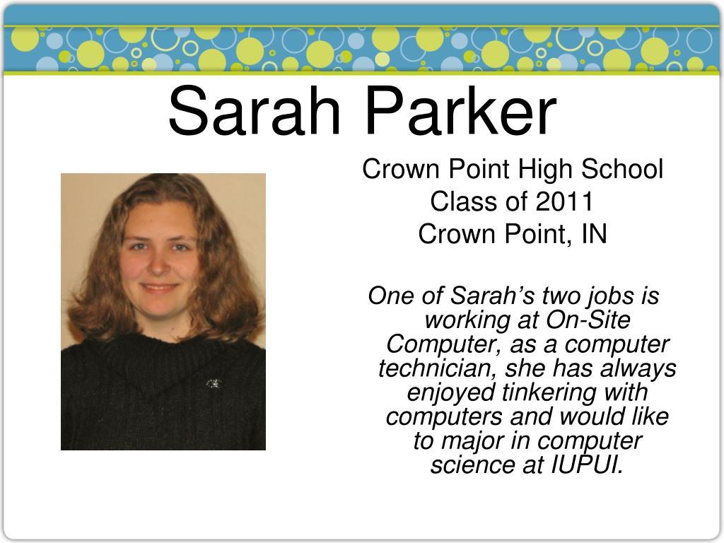 Sarah Parker