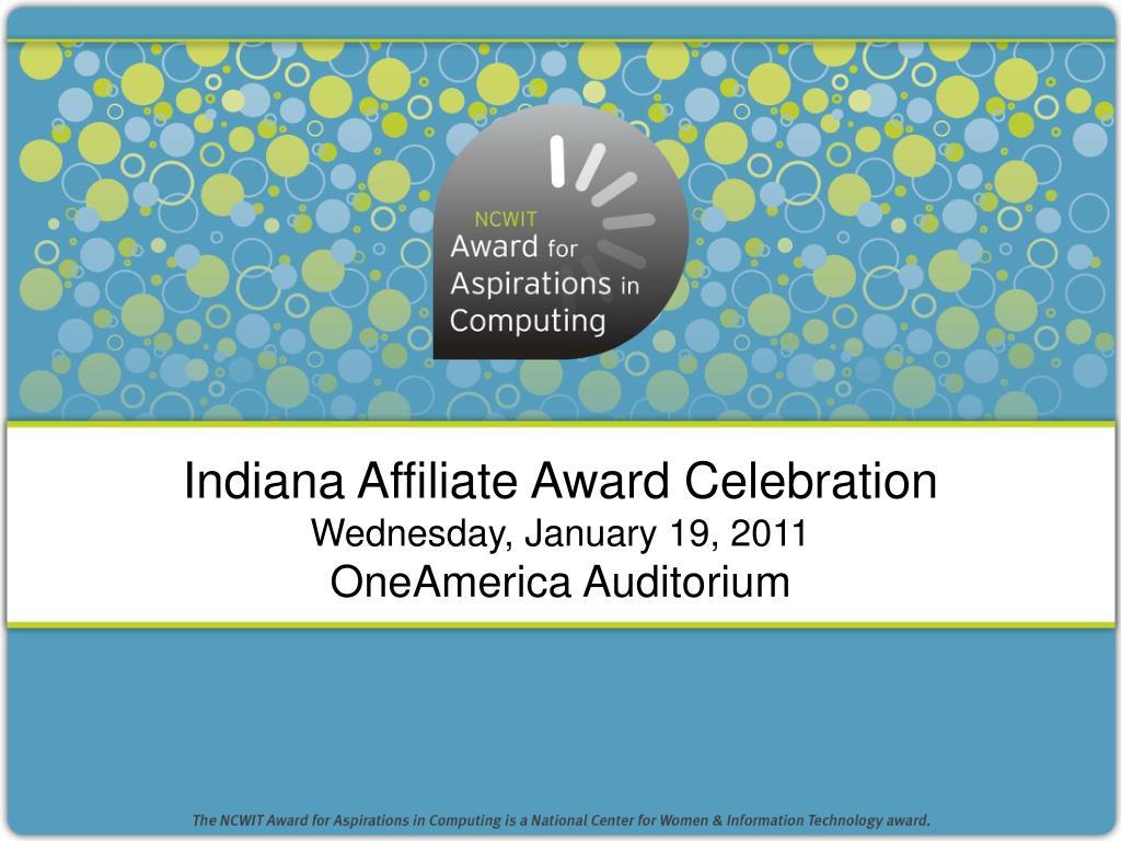 Indiana Affiliate Award Celebration