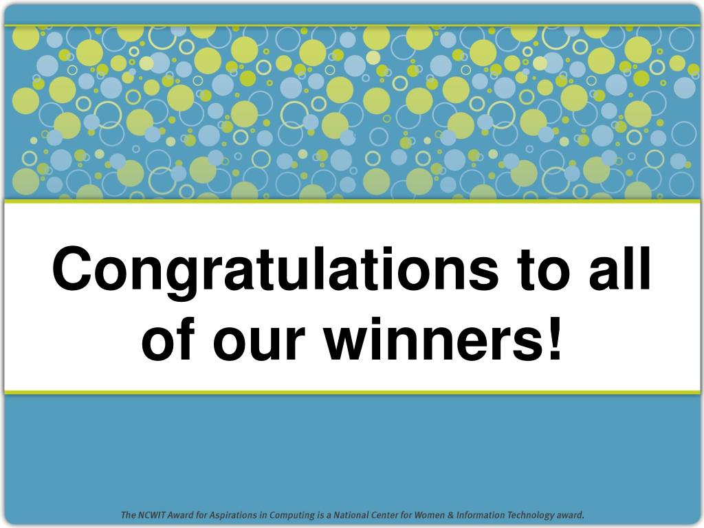 Congratulations to all of our winners!