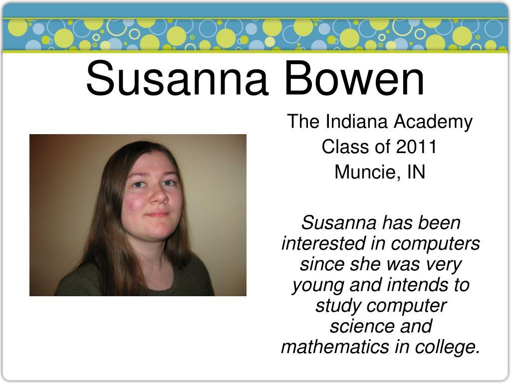 Susanna Bowen