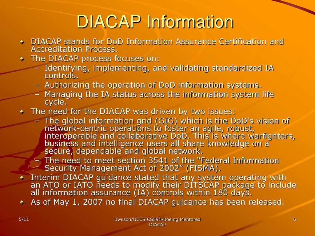 DIACAP Information