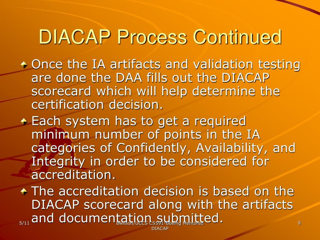 DIACAP Process Continued