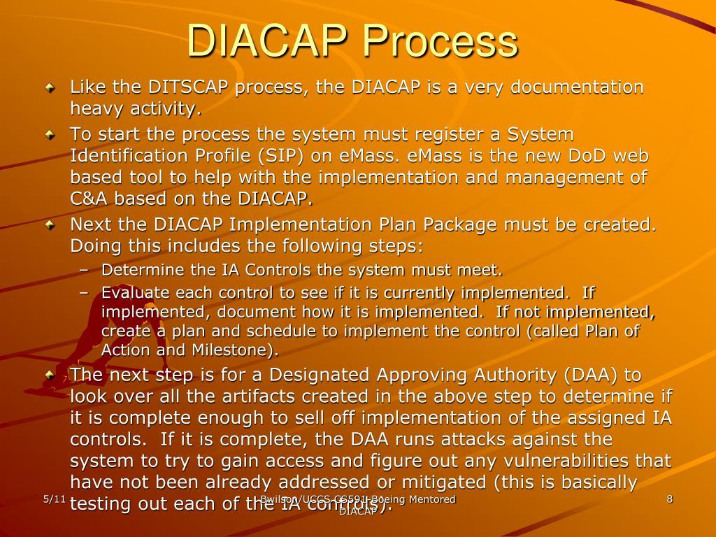 DIACAP Process
