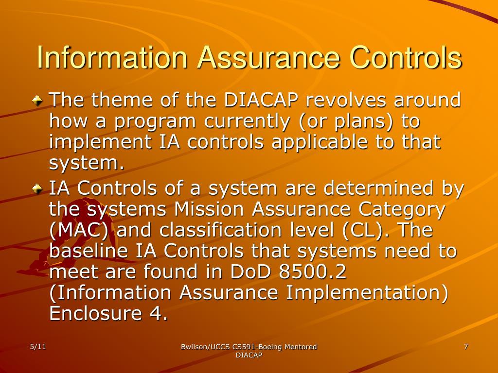 Information Assurance Controls