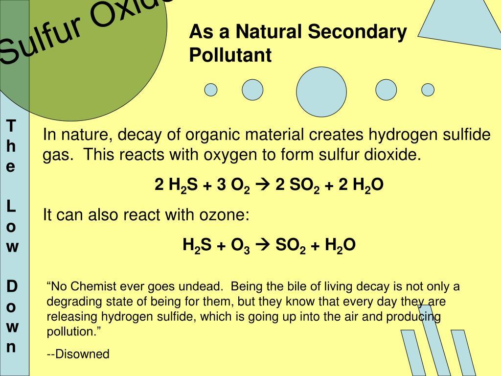 Sulfur Oxidez