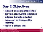 day 2 objectives62