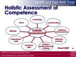 holistic assessment of competence