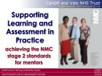 supporting learning and assessment in practice
