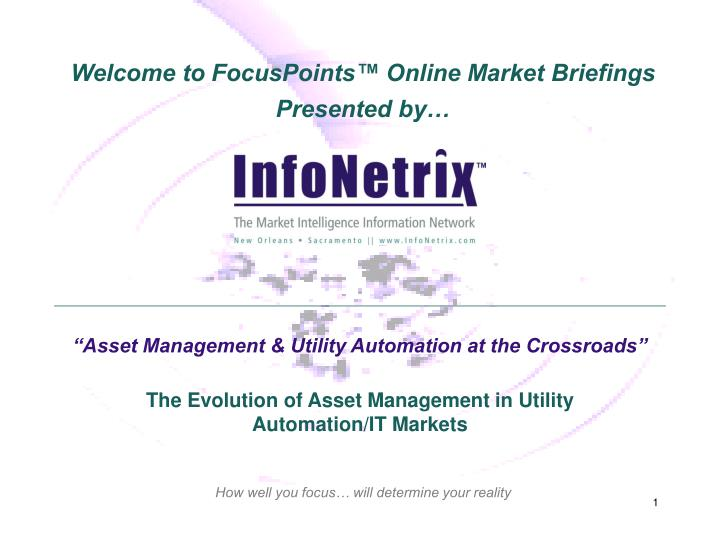 asset management utility automation at the crossroads n.