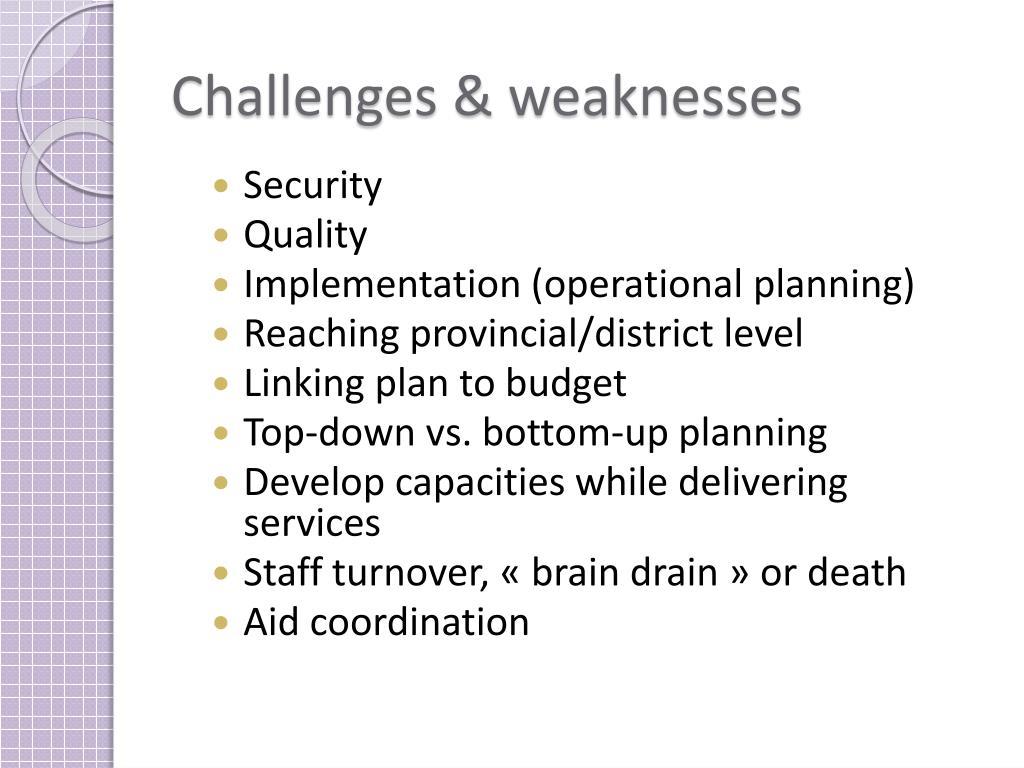 Challenges &