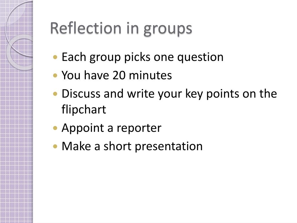 Reflection in groups