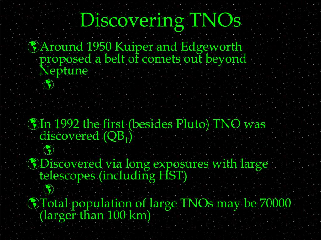 Discovering TNOs