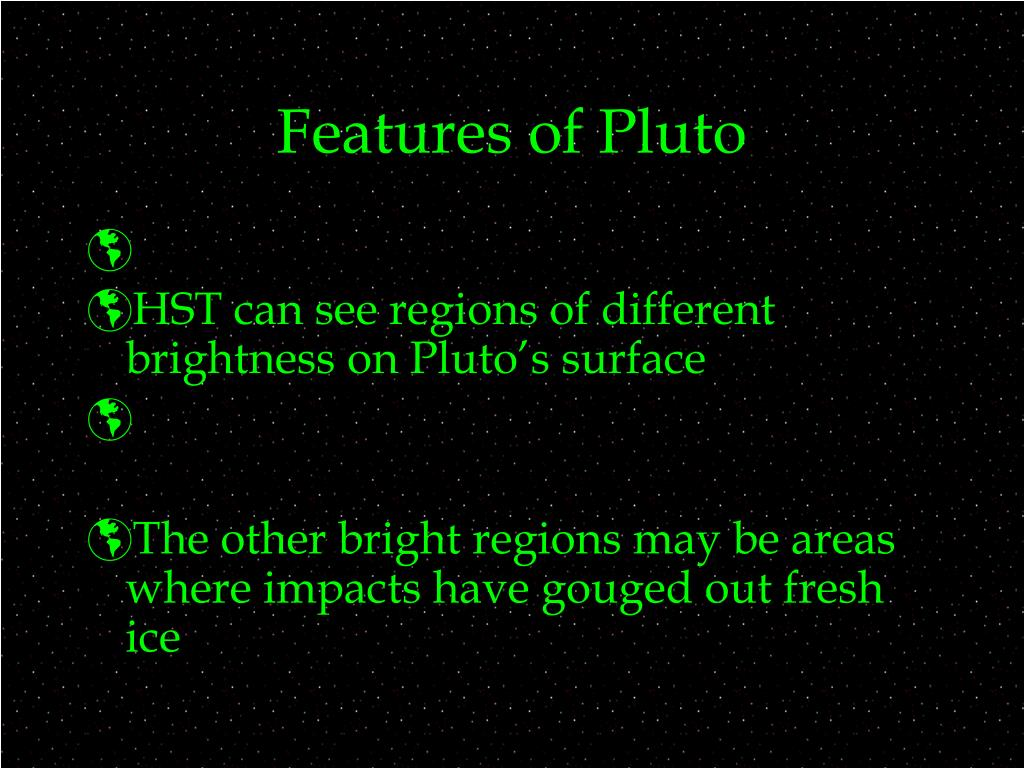 Features of Pluto