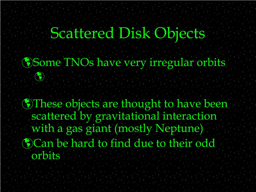 Scattered Disk Objects