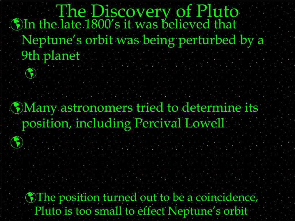 The Discovery of Pluto