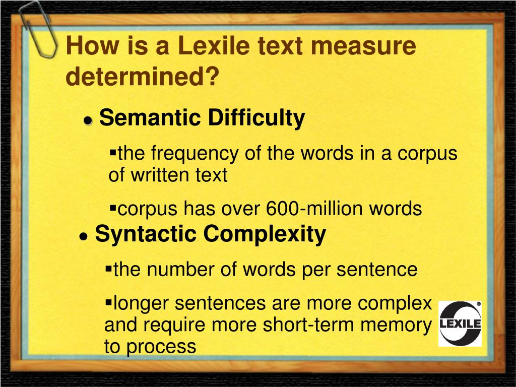 How is a Lexile text measure determined?