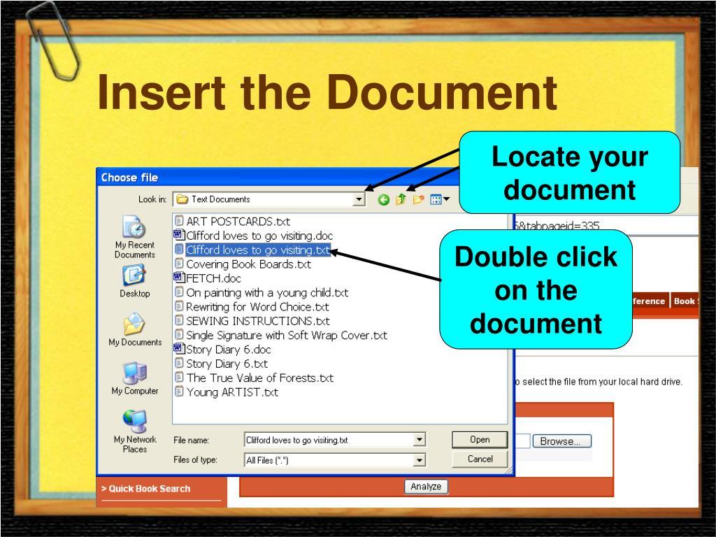 Insert the Document