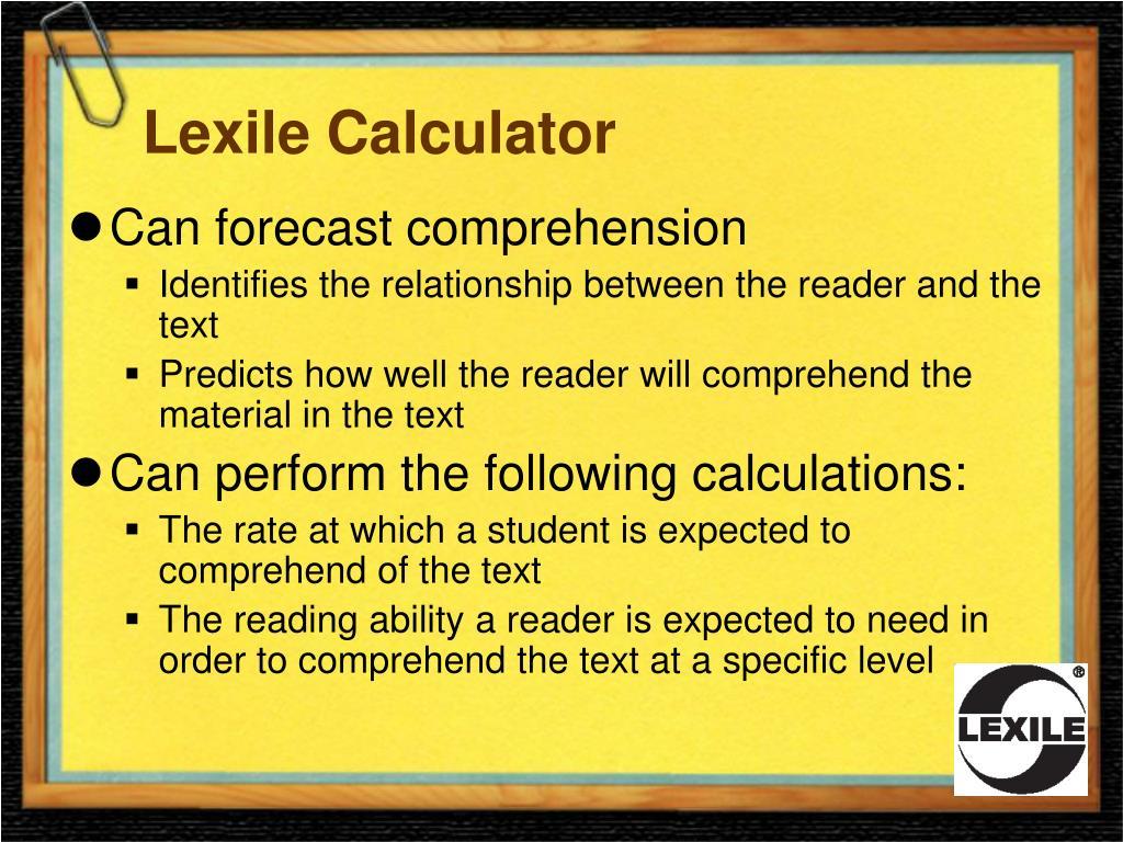Lexile Calculator