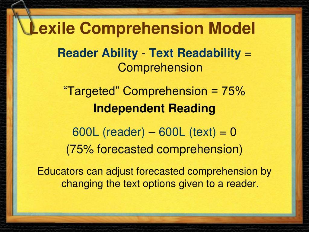 Lexile Comprehension Model