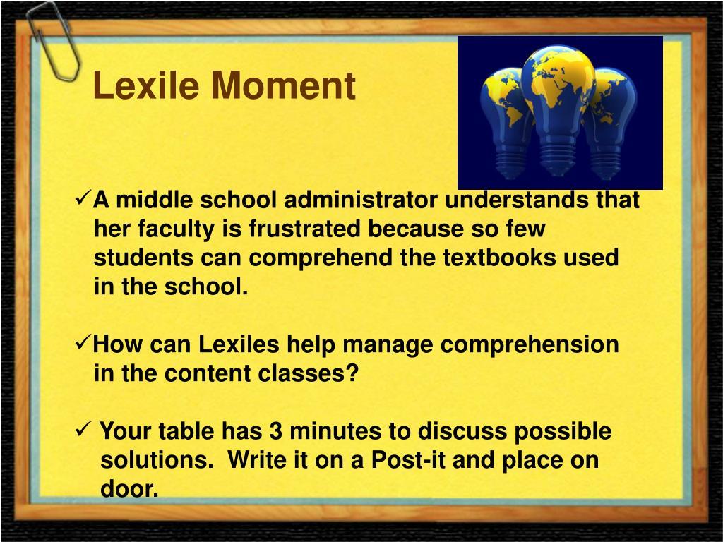 Lexile Moment