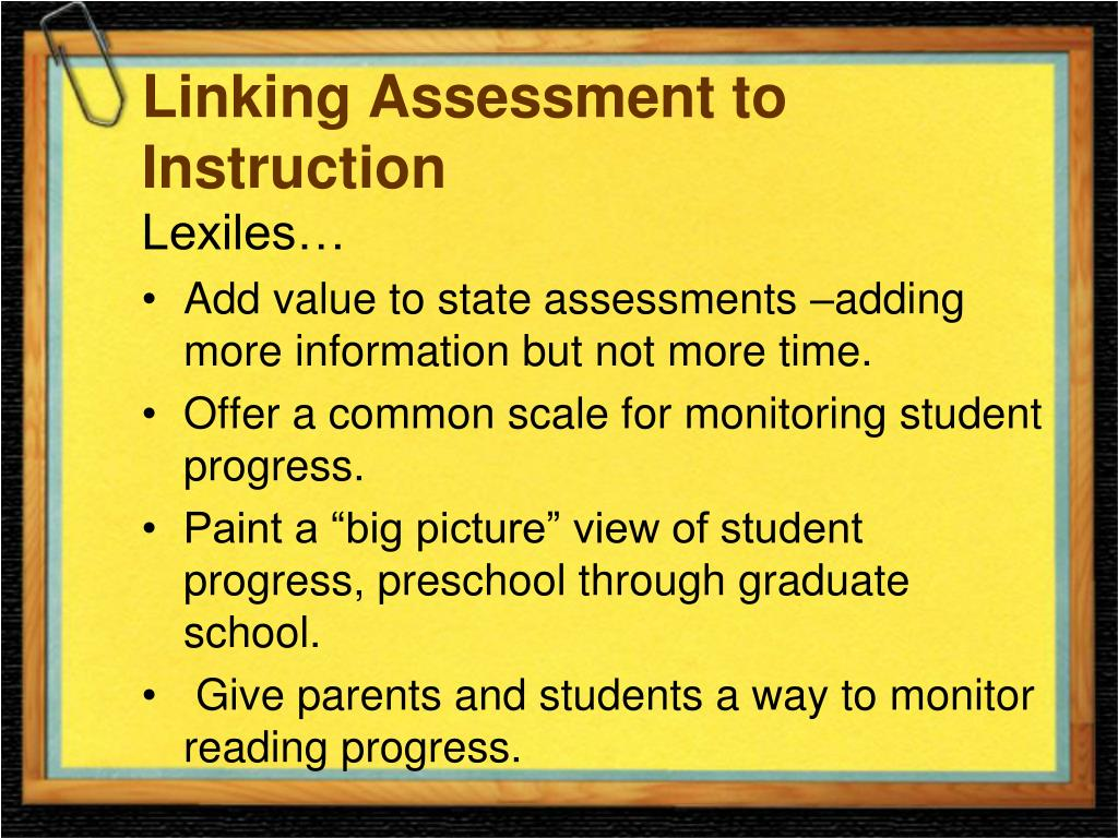 Linking Assessment to Instruction