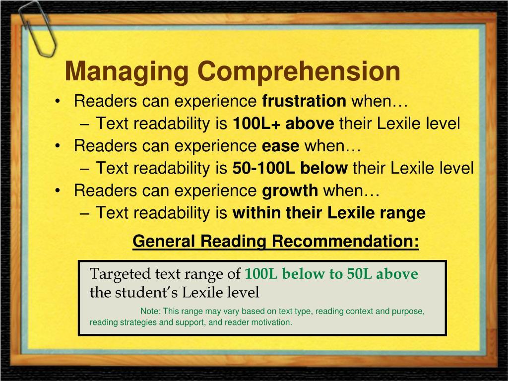 Managing Comprehension