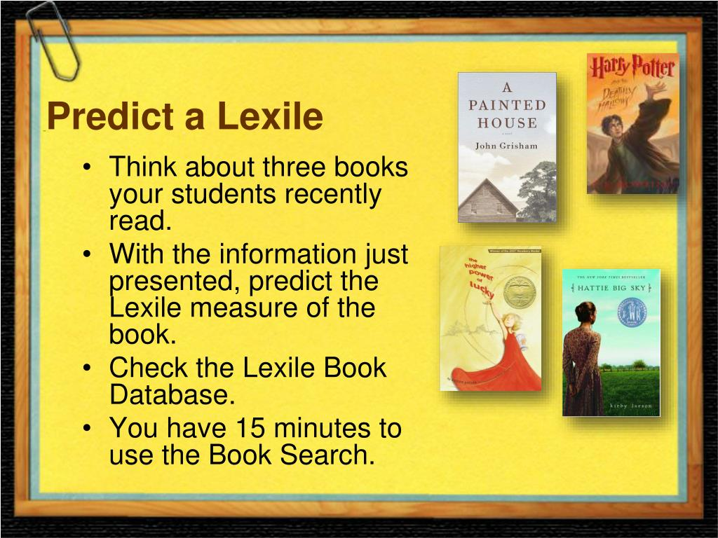 Predict a Lexile