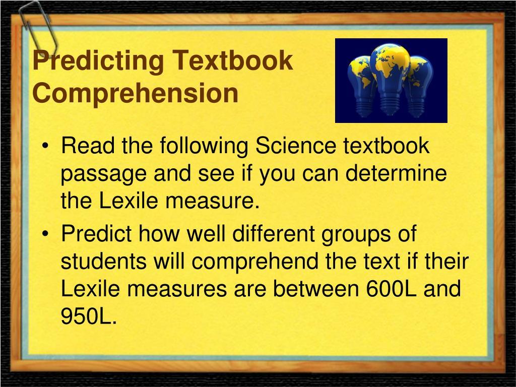 Predicting Textbook Comprehension