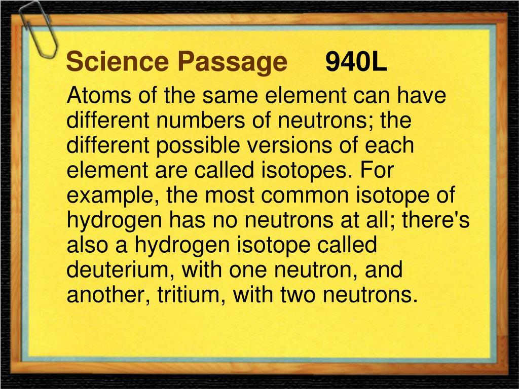 Science Passage