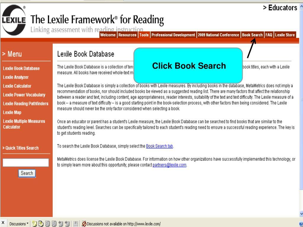 Click Book Search