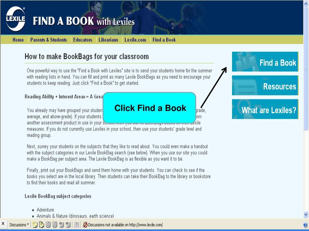 Click Find a Book