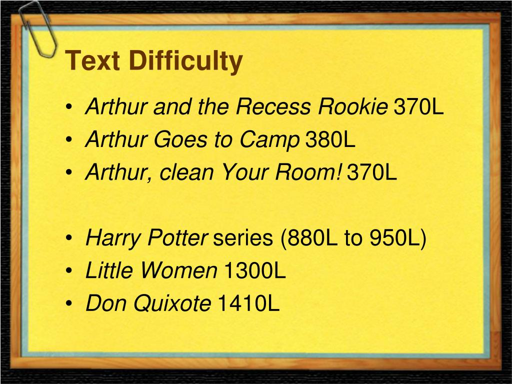 Text Difficulty