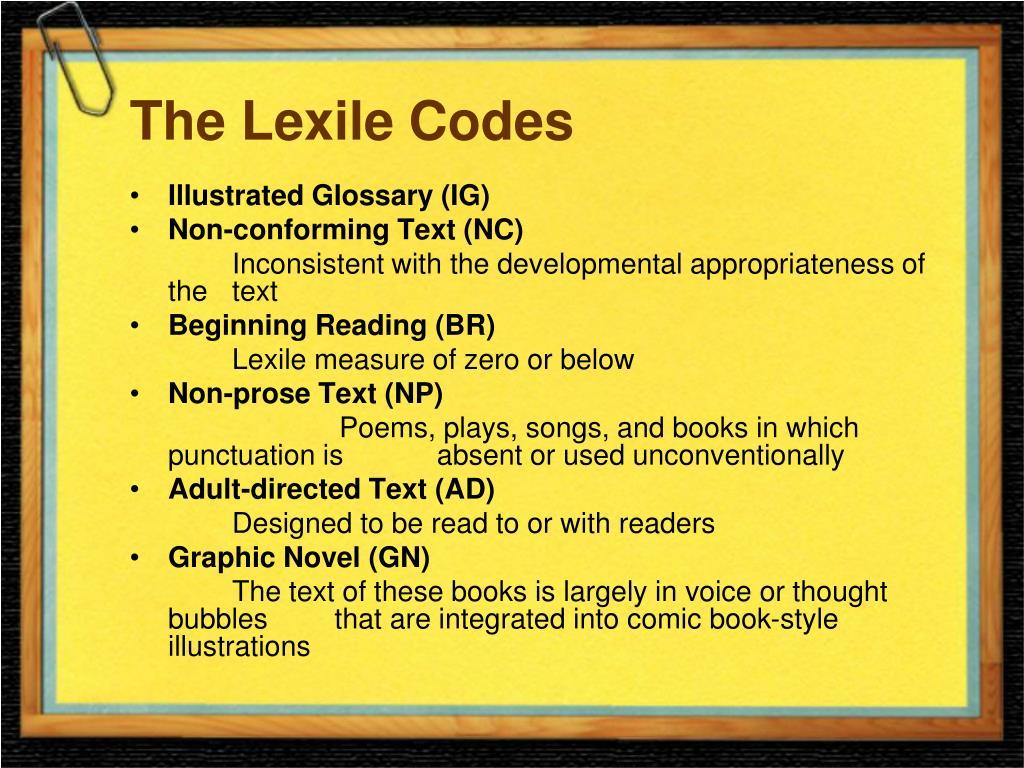 The Lexile Codes