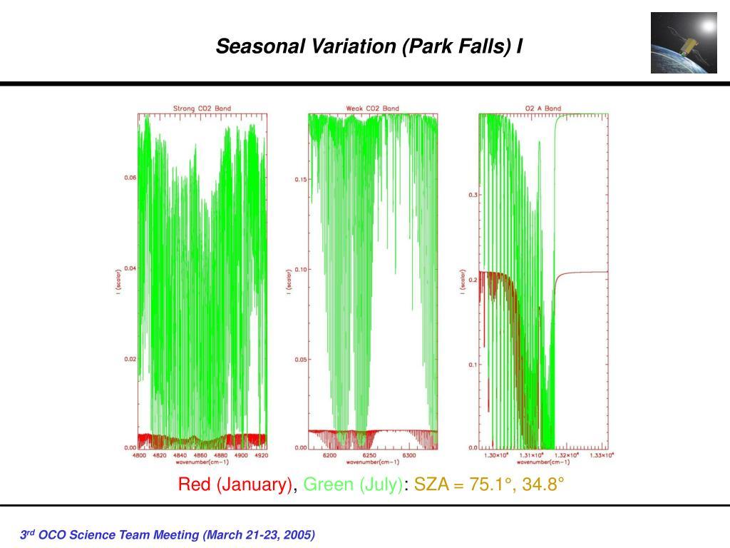 Seasonal Variation (Park Falls) I