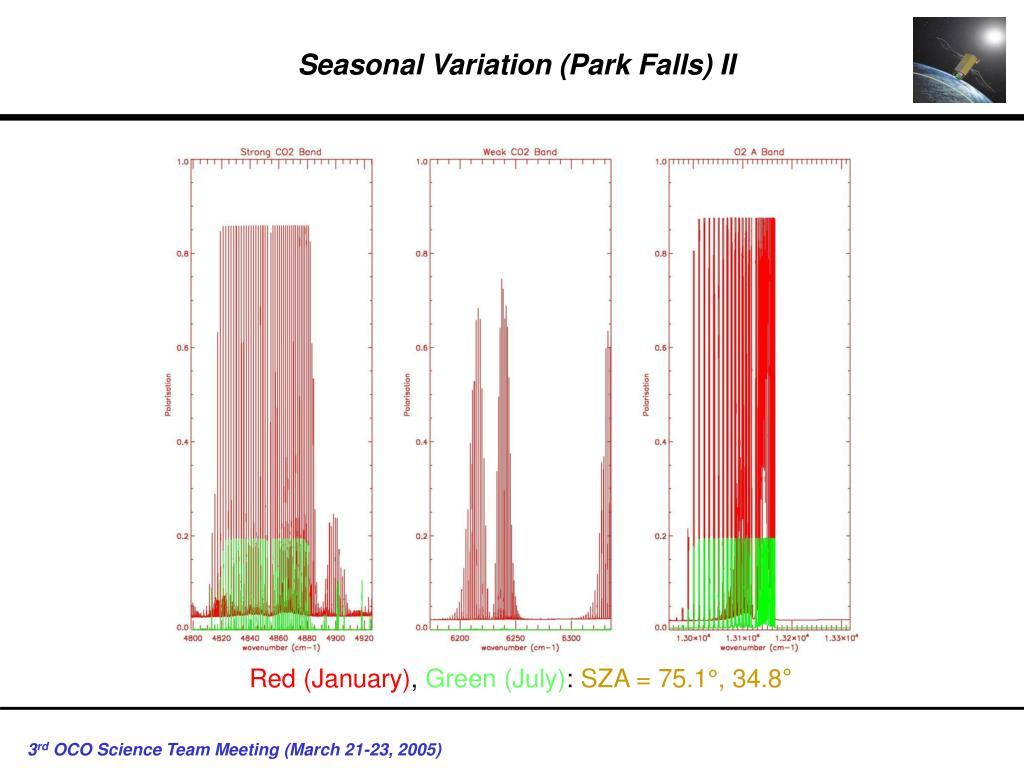 Seasonal Variation (Park Falls) II