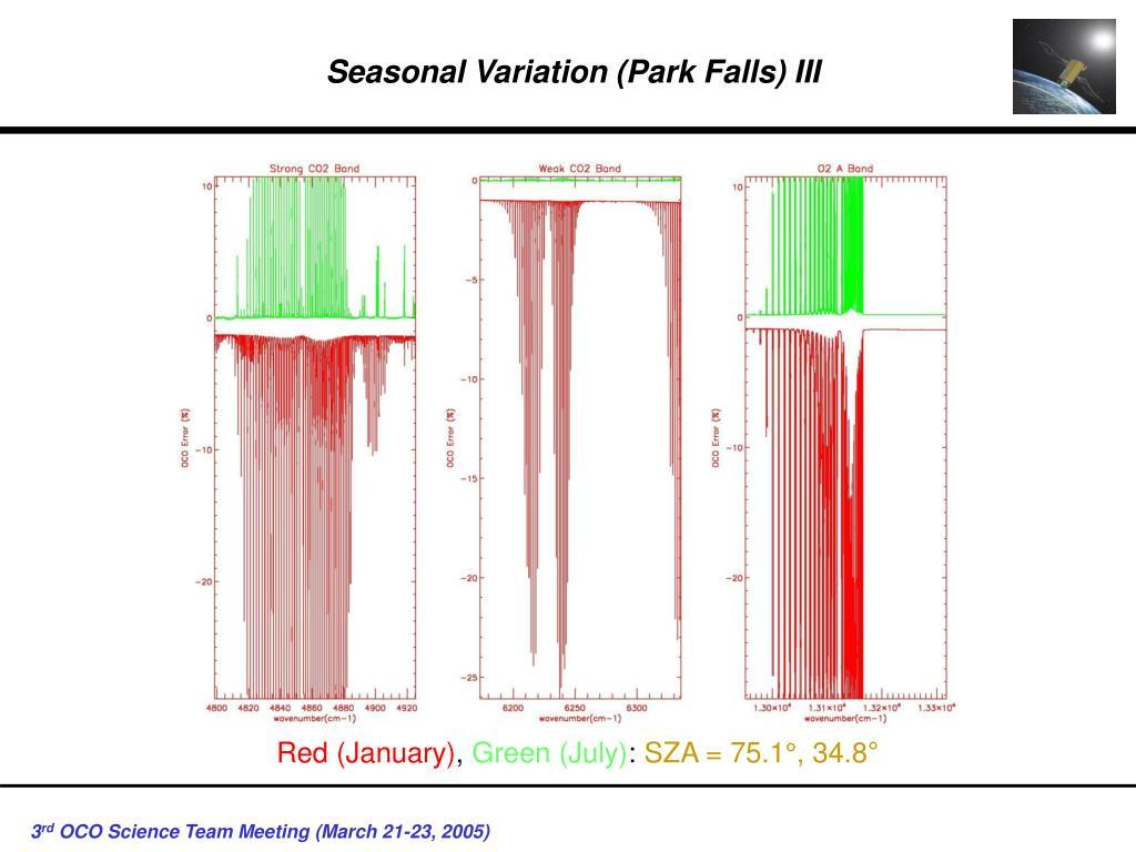 Seasonal Variation (Park Falls) III