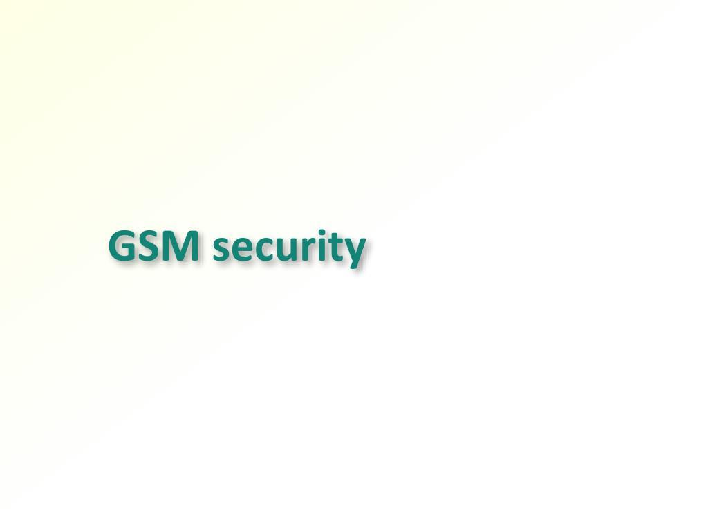 GSM security