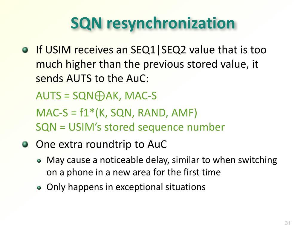 SQN resynchronization