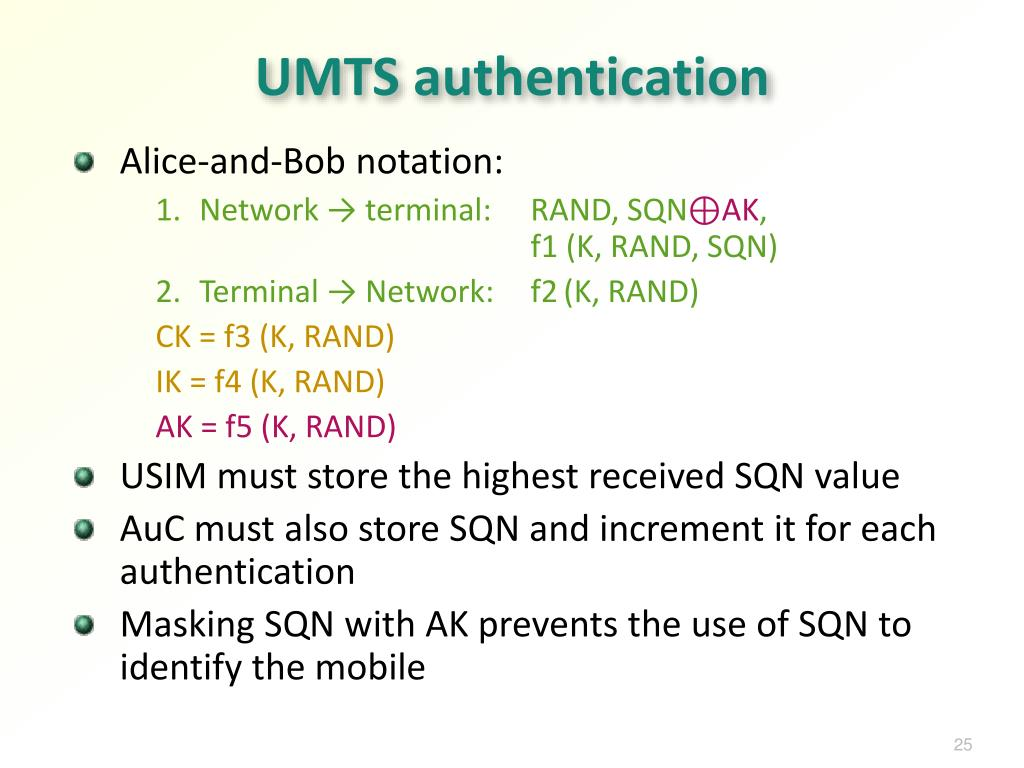 UMTS authentication