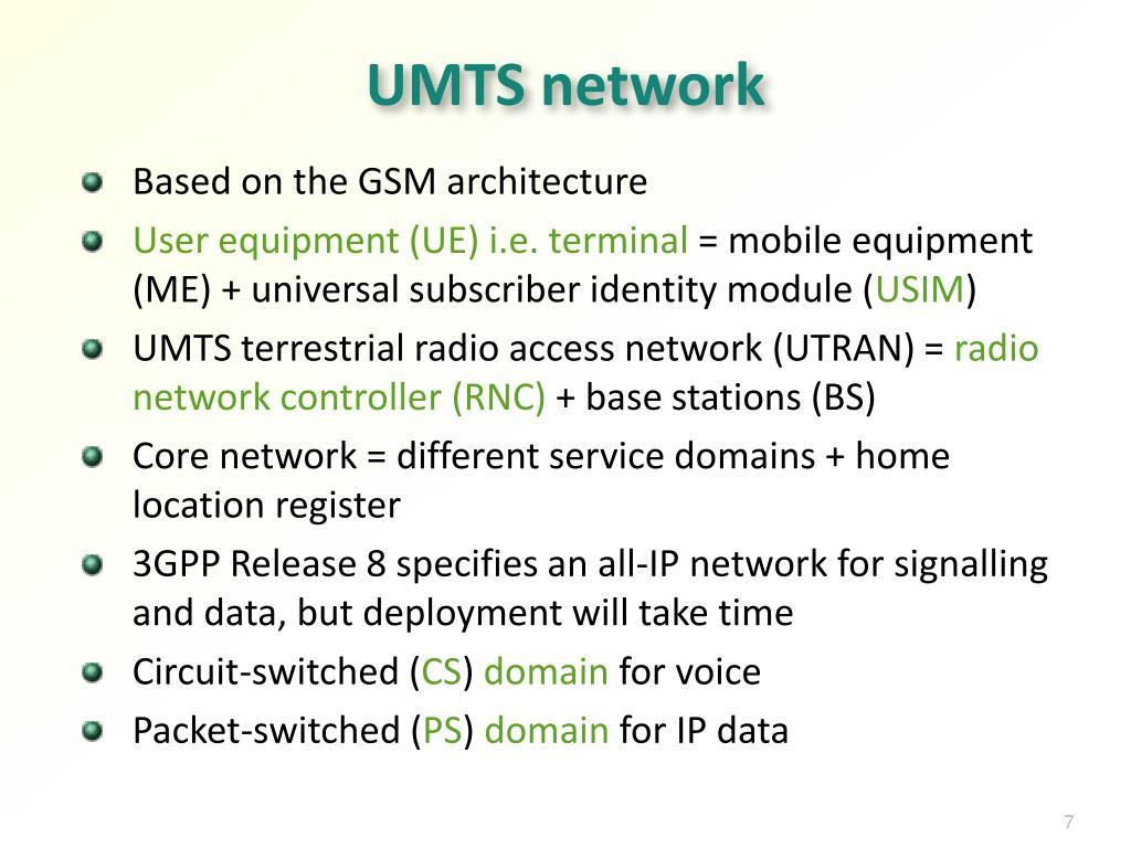 UMTS network