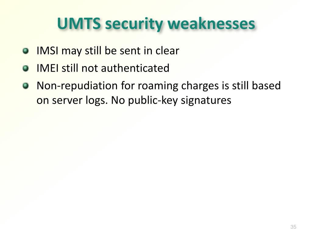 UMTS security weaknesses