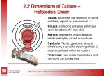 2 2 dimensions of culture hofstede s onion