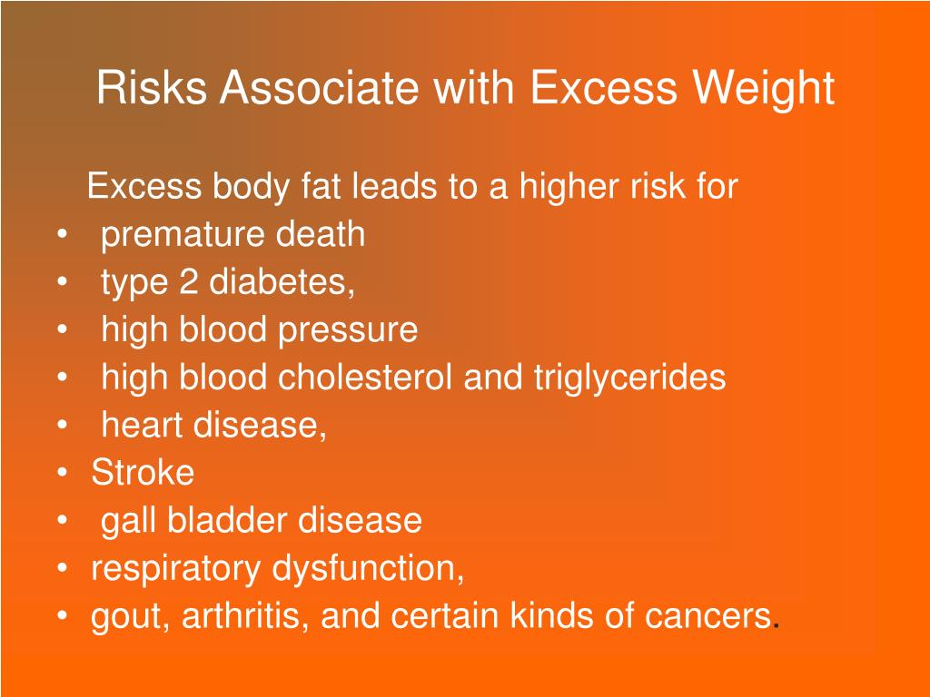 Risks Associate with Excess Weight